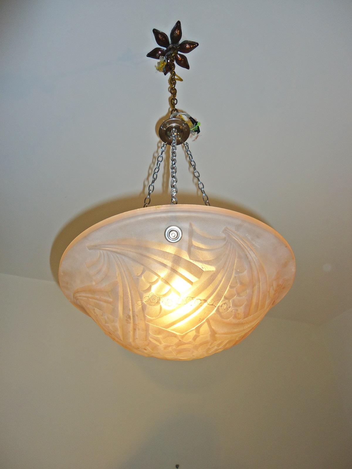 negra art deco plafonnier circa 1930 jones antique lighting. Black Bedroom Furniture Sets. Home Design Ideas